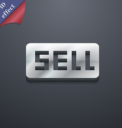 Sell contributor earnings icon symbol 3d style vector