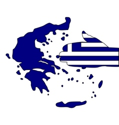 Welcome to greece vector