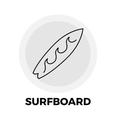 Surfboard line icon vector