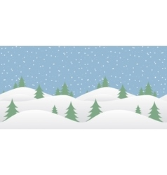 Seamless winter background with falling snow vector
