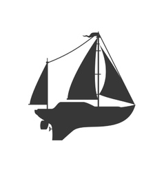 Sailboat icon transportation design vector