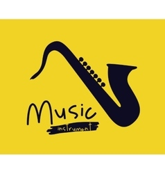 Saxophone instrument isolated icon design vector