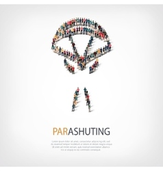 People sports parashuting vector