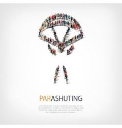 People sports parashuting vector
