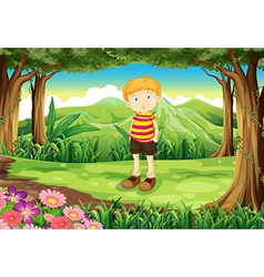 A tall boy at the jungle vector image vector image