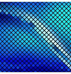 Beautiful blue mosaic vector image vector image