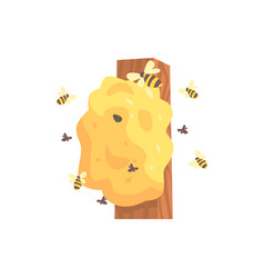 beehive hornets or wasp nest cartoon vector image