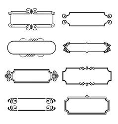 Calligraphic decorative elements set vector