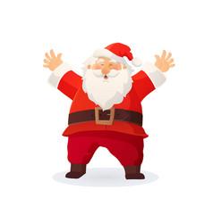 christmas funny cartoon santa vector image vector image