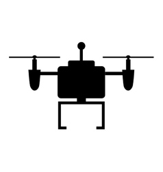 Drone technology flying icon vector