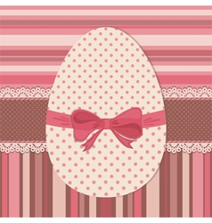 Easter greeting card with dotted egg vector