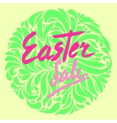 Easter sale flyer vector