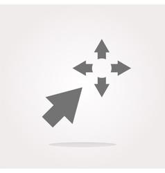 Fullscreen sign icon Arrows symbol Icon for App vector image