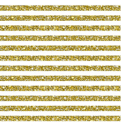 gold glitter striped pattern background vector image