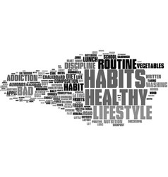 Good habits word cloud concept vector