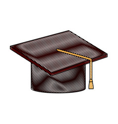 graduation hat accessory degree celebration vector image vector image