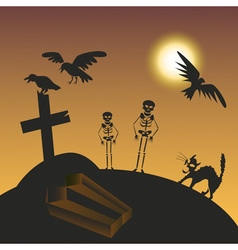 Halloween cemetery vector