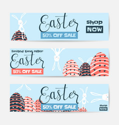horizontal easter sale vector image vector image