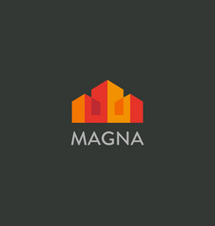 house city logotype premium real estate vector image vector image