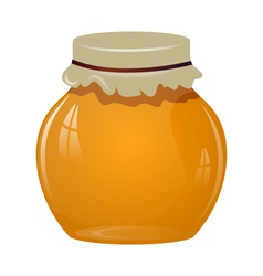 Jars of honey vector image vector image