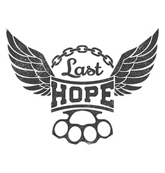 Last hope vector image