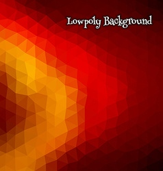 Low poly abstract background blue and orange vector