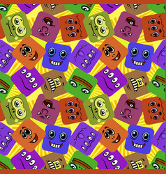 monster smileys seamless vector image