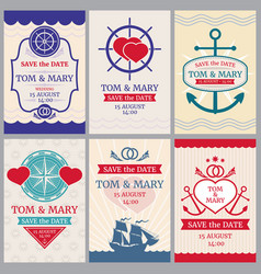 nautical congratulations backgrounds for vector image vector image