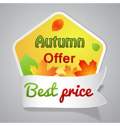 One big autumn sale labele vector image vector image