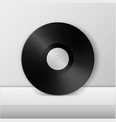 Realistic empty music gramophone vinyl lp record vector