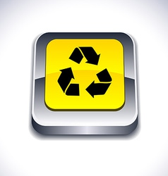 Recycle 3d button vector
