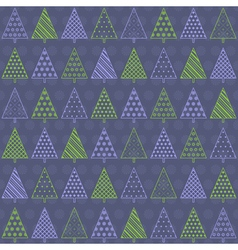 Seamless background with fir trees vector