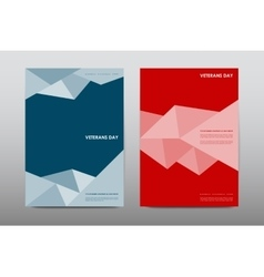 Set of veterans day brochure poster templates in vector