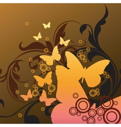 stylized butterfly graphic vector image