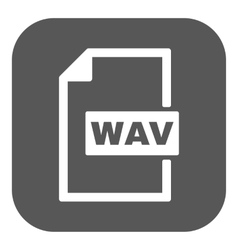 The WAV icon File audio format symbol Flat vector image vector image