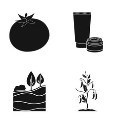 Tomato body cream and other web icon in black vector