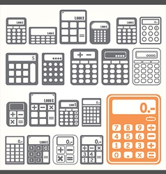 tools Calculator icons set vector image vector image