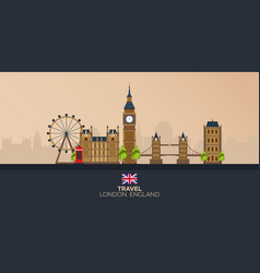 Trip to london vacation road trip tourism vector