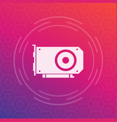 Video card icon vector