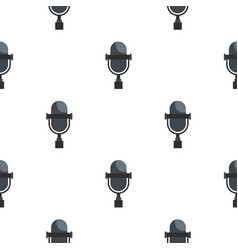 Vintage classic microphone pattern seamless vector