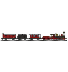 vintage steam train vector image