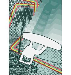 vintage urban grunge wakeboard vector image