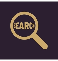 Search icon magnifier symbol flat vector