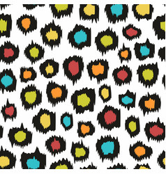 colorful seamless pattern imitation leopard skins vector image