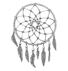 dream catcher on white background vector image