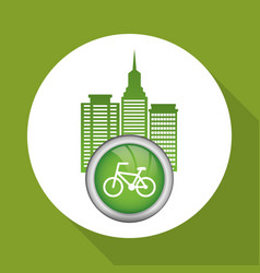 Eco design green icon isolated vector