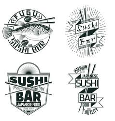 set of vintage emblems vector image