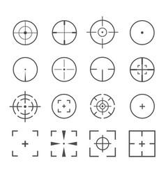 Crosshairs icon set vector
