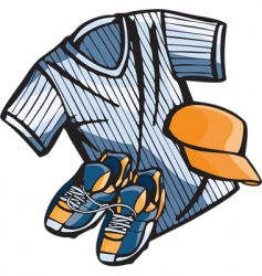 baseball gear vector image