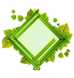 Frame with the composition of foliage number one vector
